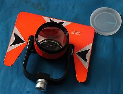 All Metal Prism Set W Bag For Total Station Surveying Red Prism