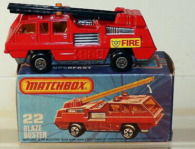 DTE LESNEY MATCHBOX SUPERFAST 22-C HTF BLACK LADDER, BLAZE BUSTER NIOB - $49.95