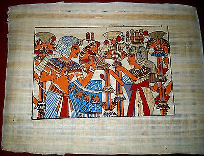 Ägypten Papyrus-Bild 30 x 40 cm - Pharaonenkinder
