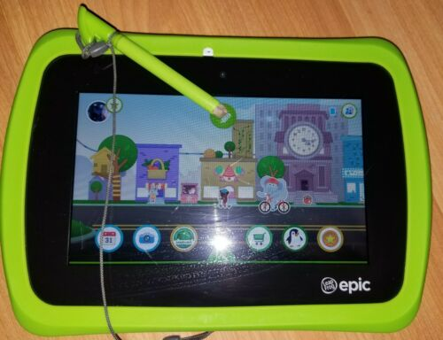 LeapFrog Epic 16GB, Wi-Fi, 7in - Green - Works Perfectly! Ready to enjoy!