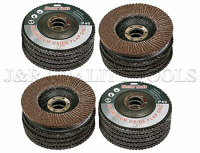 Lot Of 20 4 12 X 78 Flap 40 Grit Wheel Sanding Disc Aluminum Oxide