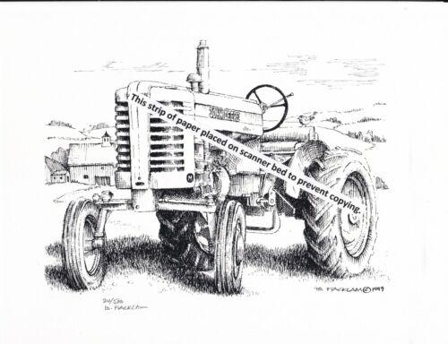 John Deere Model M Tractor Styled ~ Pen & Ink Print