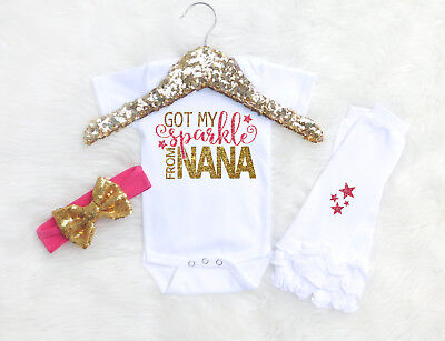 Baby Girl Outfit From Grandma Gift For Granddaughter Got My Sparkle From Nana  - Grandma Outfit