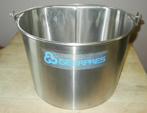GEERPRES INDUSTRIAL GRADE STAINLESS STEEL MOP UTILITY BUCKET 5 GAL.MODEL 2050