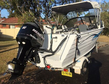 Trailcraft 485 freestyle 90hp Mercury optimax
