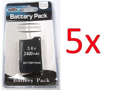 5 X Psp 2000 3000 (slim) Replacement Battery Packs 3.6v 2...