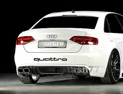 QUATTRO AUDI A4 A6 A8 RS3 RS4 Q5 S- Line Racing Decal sticker emblem logo BLACK