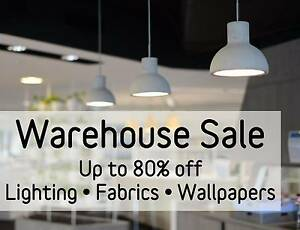 Designer Lighting Warehouse Sale - Up to 80% Off - 2 Days Only Williamstown North Hobsons Bay Area Preview