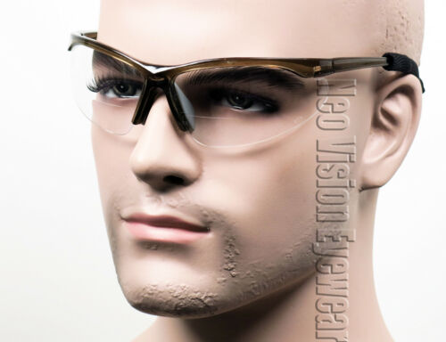 ERB Pinpoint Bifocal Safety Glasses W Cord Clear Smoke Magnifier Reader Reading