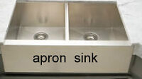 32 inches apron stainless steel apron sink
