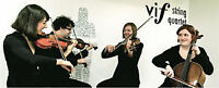 Fun and classy string quartet for your wedding or event