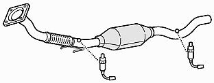 Front Exhaust Pipe & Catalytic Converter for Volkswagen Beetle 2.0 (06/01-04/11)