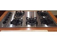 BOSCH 5 RING GAS HOB BRUSHED STAINLESS STEEL IN GOOD USED CONDITION