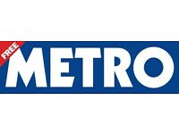 METRO Newspaper Merchandisers wanted in Nottingham - £7.20 per hour plus holiday pay.