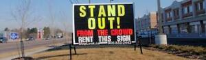 Looking for a Sign Rental Sales Rep.