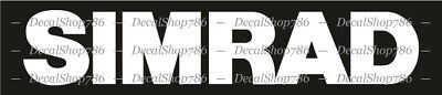 SIMRAD Marine Electronics - Fishing Sports - Vinyl Die-Cut Peel N' Stick Decals
