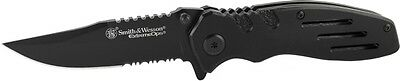 Smith & Wesson SWA24S 7.1in Stainless Steel Folding Knife wi