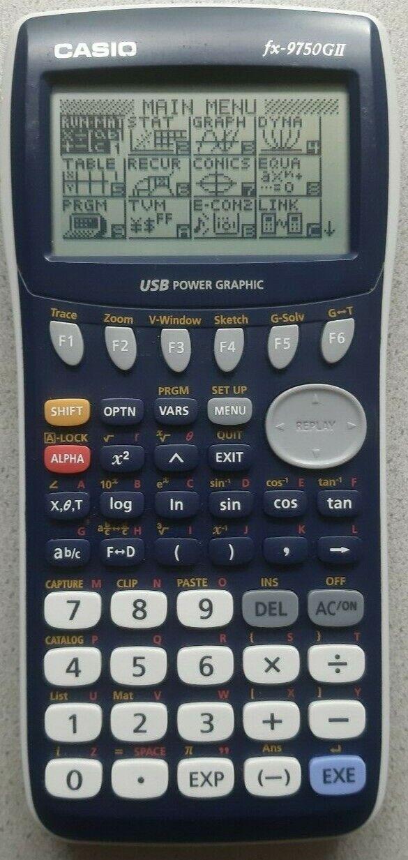 Casio fx-9750GII USB Power Grafik-TaschenrechnerGraphic Grafic