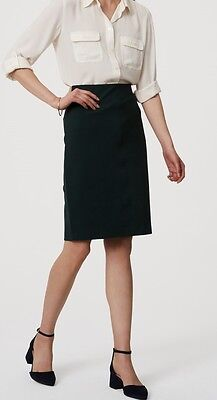 Sm Pull Green - Ann Taylor LOFT Pull On Pencil Skirt Size XX-Small Petite NWT Deep Bottle Green