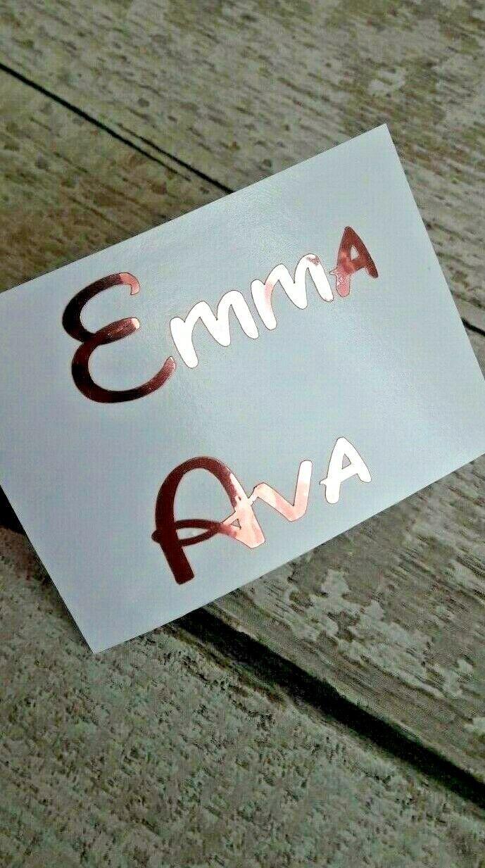 Disney Personalised Name Vinyl stickers  Wine glass Bauble Hen Do Xmas Bottle 3