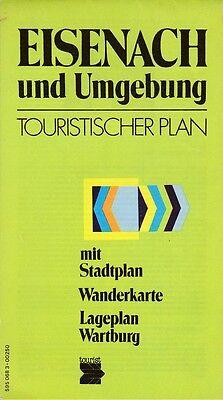 Touristischer Plan, 1:50.000, Eisenach und Umgebung, Wanderkarte
