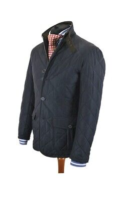 Barbour Lutz Quilted Jacket Small Rare Navy Skyfall Beacon Dept Commander