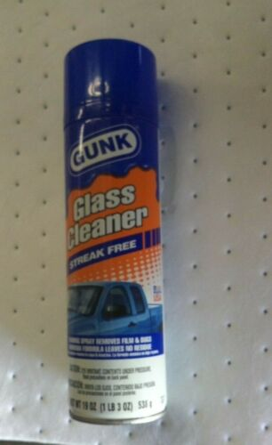 GUNK Glass Cleaner 19 oz. Aerosol Can GC1  with 6 FREE Microfiber Mitts