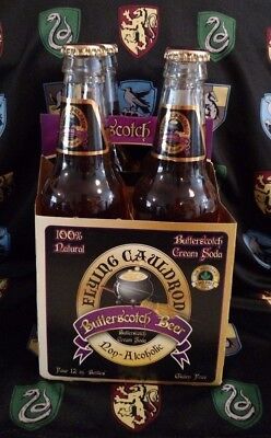Flying Cauldron Butterscotch Soda Harry Potter Butterbeer Non Alcoholic 12 oz.