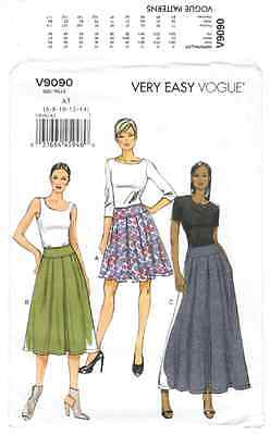 V9090 - Vogue - Misses Pleated Skirt - NEW sewing pattern - sz A5 6-8-10-12-14