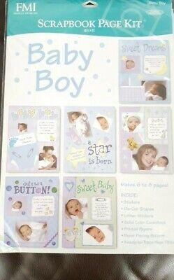 Frances Meyer Baby Boy Scrapbook Kit Z  .  - Baby Boy Scrapbook Kit