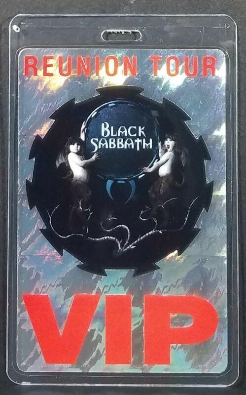 Black Sabbath Reunion Tour VIP Laminate Pass Excellent Condition Nice!