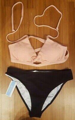 bikini, rosa-schwarz, neu, verspielt