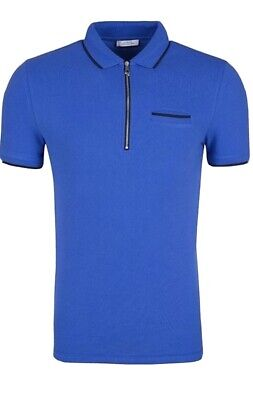 Versace Collection Mens Blue Polo T-Shirt Size L NWT $275