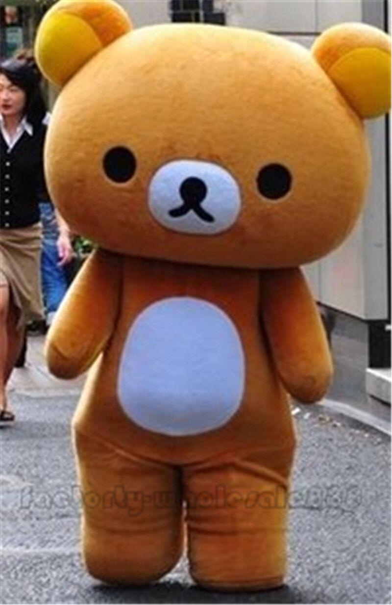 Japanese San X Rilakkuma Brown Bear Mascot Costumes Adult