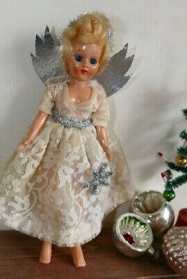 Vintage Christmas Tree Fairy Angel Decoration Ornament  1960's Retro Doll (B)