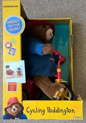 Cycling Paddington Bear Soft Plush Toy Teddy Bike Sound & Movement for sale  Shipping to Ireland