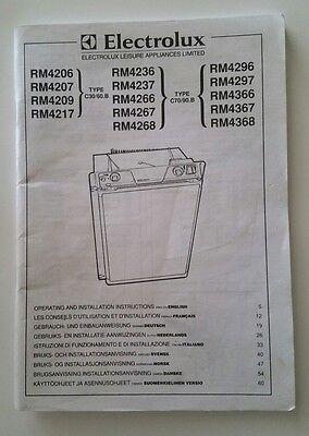 Caravan Electrolux Fridge Manual For RM4270 /& RM4271 Ref 11-19