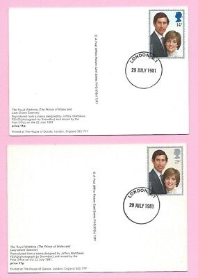 GB 1981 PHQ Cards #53 - Wedding Day ROYAL WEDDING Charles and Diana  H/s LONDON E1
