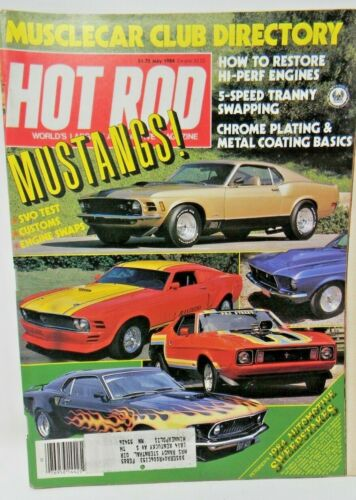 Hot Rod Magazine May 1984 - Muscle Car Club Directory