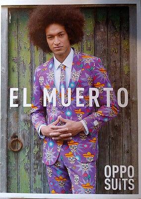 Oppo Suit El Muerto Costume Oufit Tie Pants Day of Dead Latin Skulls Dead One