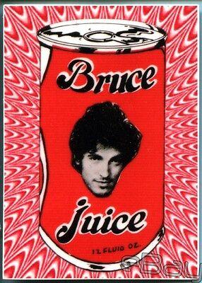 BRUCE SPRINGSTEEN Ltd Collectors Sticker; 'Bruce Juice' Retro Design; Fierce