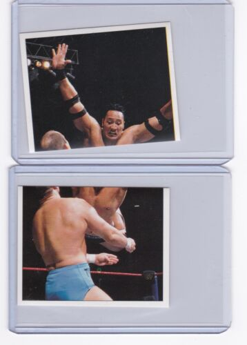 (2) 1997 Panini WWF Superstars Rocky Maivia The Rock Rookie Wrestling Stickers