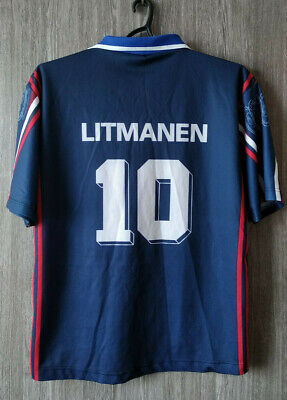 Retro Ajax Amsterdam Litmanen 1997-98  Football Shirt Soccer Jersey Mens Sz XXL image