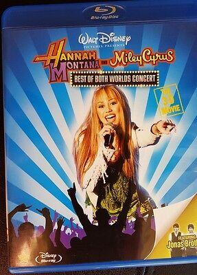 3D Hannah Montana Miley Cyrus Best of Both Worlds BLU-RAY DISC music GIRLS