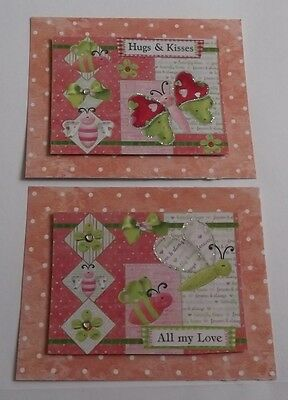 PACK 2 HUGS & KISSES ALL MY LOVE TOPPER EMBELLISHMENTS FOR CARDS OR (All My Love My Hugs My Kisses)
