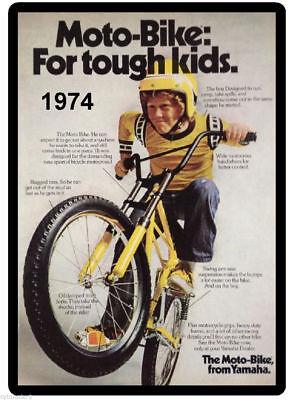 1974 Yamaha Moto - Bike Bicycle   Refrigerator / Toolbox  Magnet  Ad