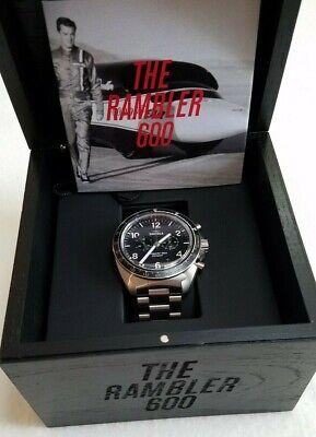 Shinola RAMBLER LIMITED EDITION- 600 Watch BLACK CHRONO FACE Titanium Bracelet