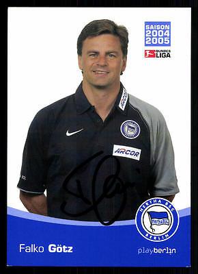 Falko Götz Autogrammkarte Hertha BSC Berlin 2004-05 Original Signiert + A 72614