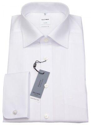 Olymp Herren Hemd Comfort Fit Umschlagmanschette weiß 0265 65 00