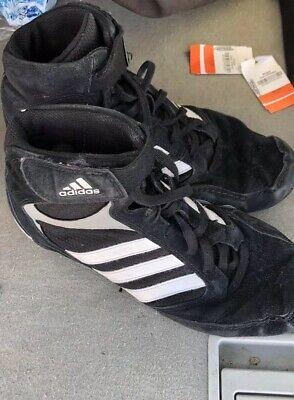 2de6825468476a Adidas Men s Wrestling Shoe Black White PYA Size 8.5